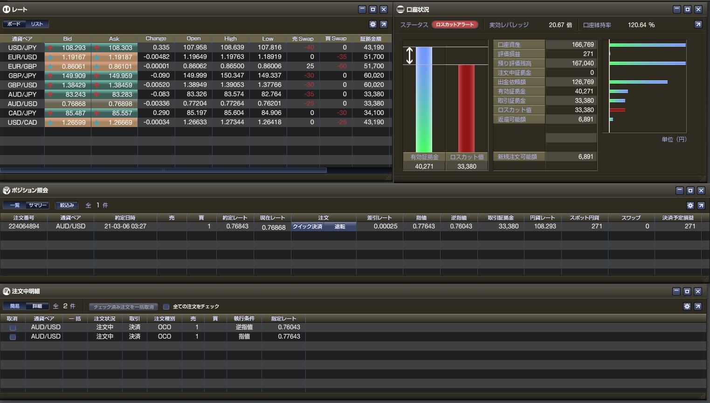 11-1-2021年03月06日-国内FXの利益目標ルールを決めた日-スタート原資20%ルールで頑張ります!ーひまわり証券-口座状況